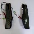 Honda New Jazz & WRV LED Neon Type Rear Pillar Cluster LED Lights with Scanning Matrix Style (Set of 2Pcs,Smoke)