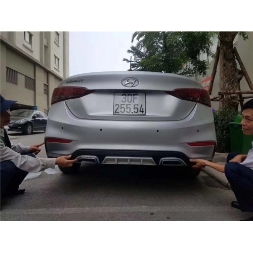 Sporty Rear Diffuser For Hyundai New Verna 2017