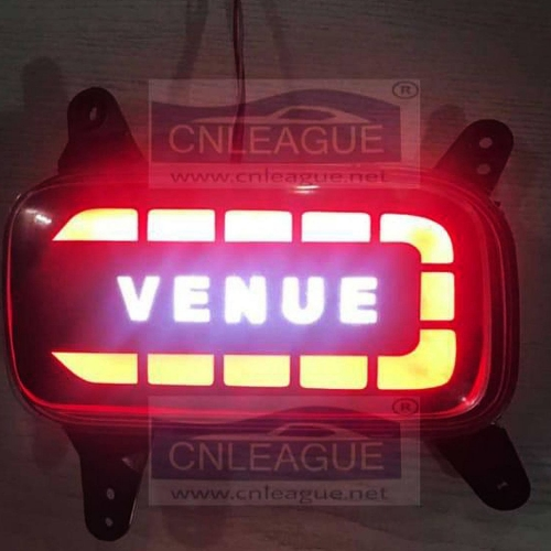 Hyundai Venue Bumper LED Reflector Lights in Venue Logo Style (Set of 2Pcs.)