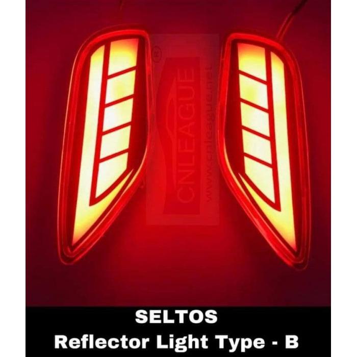 Bumper Led Reflector Lights For Kia Seltos Type B (Set of 2Pcs.)