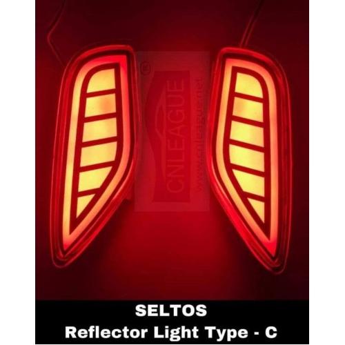Kia Seltos Type C Bumper Led Reflector Lights (Set of 2Pcs.)