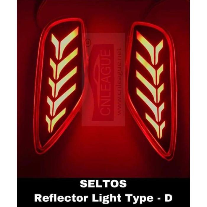 Kia Seltos Type D Bumper Led Reflector Lights (Set of 2Pcs.)