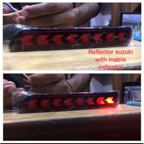 Bumper LED Reflector Lights Moving Matrix  For Maruti Vitara Brezza Arrow Design (Set of 2Pcs.)