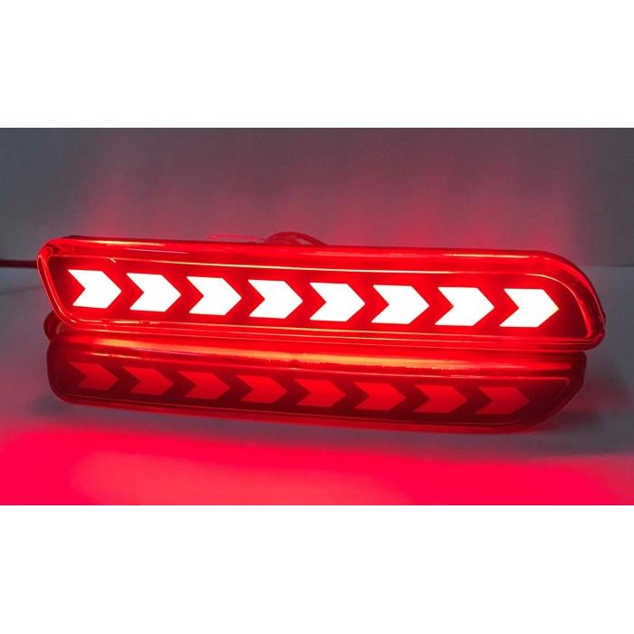 Maruti S Cross Bumper LED Reflector Lights Moving Matrix  in Arrow Design (Set of 2Pcs.)