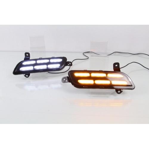 Maruti Vitara Brezza Front LED DRL Day Time Running Light - Small Design (Set of 2Pcs.)