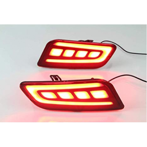 Ford New Endeavour Bumper Reflector LED Lights (Set of 2Pcs.)
