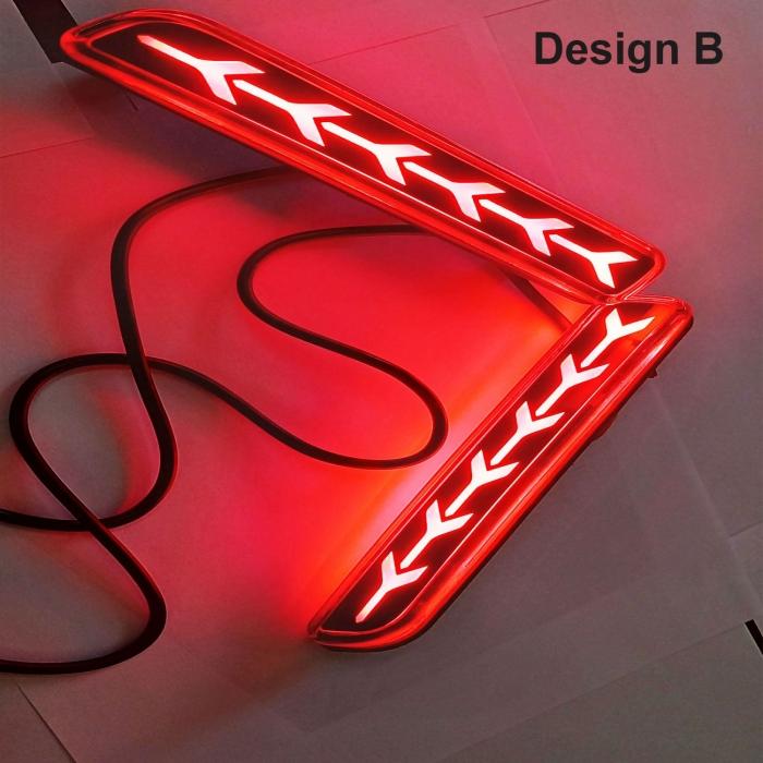Maruti Suzuki New Baleno Bumper LED Reflector Lights Moving Matrix in Arrow Design (Set of 2Pcs.)