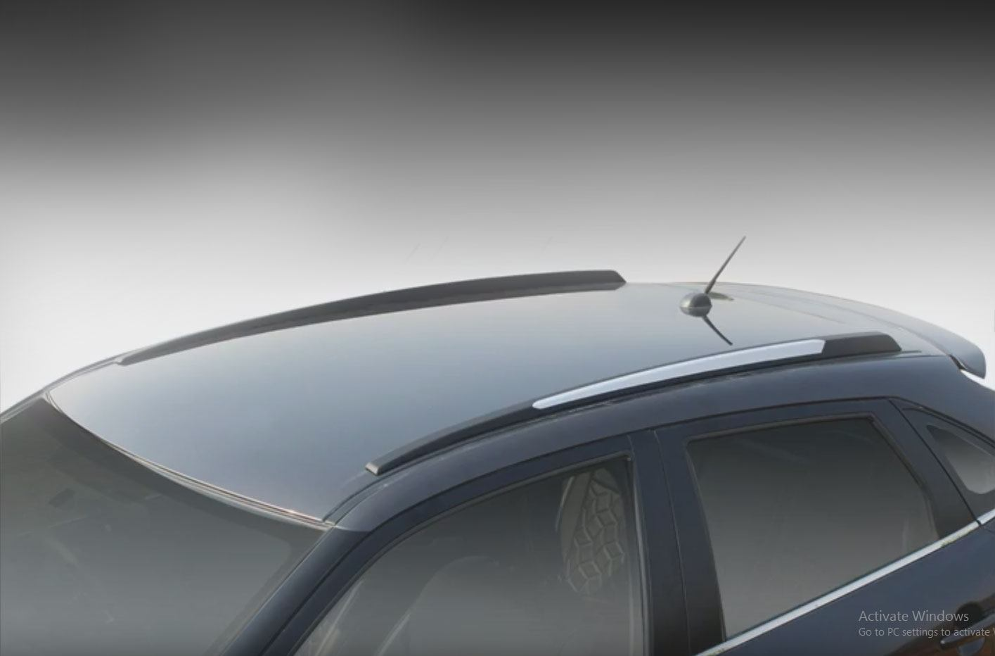 BLACK LOCKING ROOF BARS FOR CARS WITH RAILS FITTED SUZUKI IGNIS//SX4//WAGON R