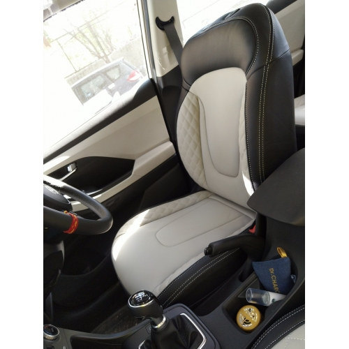 Car Seat Covers for Matrix Color Premium Black /& Yellow Front Seats