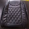 Honda BRV PU Leatherate Luxury Car Seat Cover With Pillow and Neck Rest All Black With Bucket Fitting Seat Cover