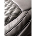 MG Hector Plus PU Leatherate Luxury Car Seat Cover With Pillow and Neck Rest All Black With Bucket Fitting Seat Cover