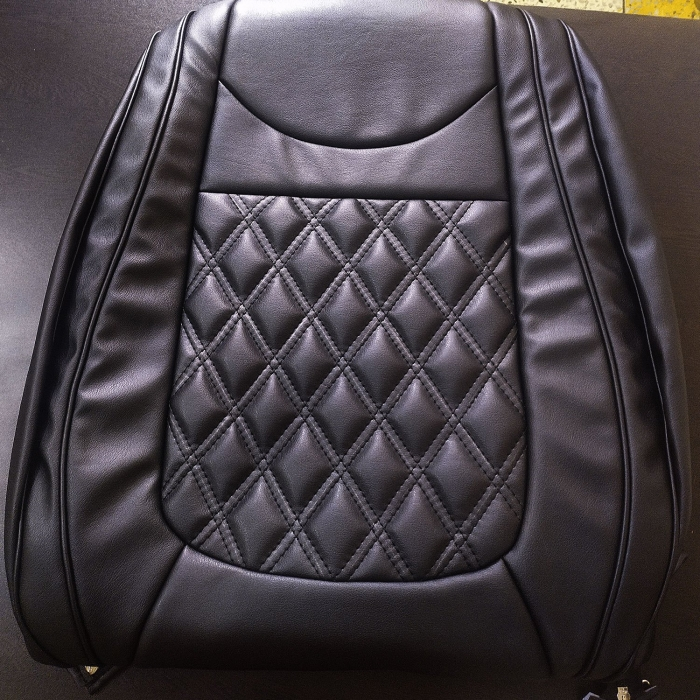 Tata Zest PU Leatherate Luxury Car Seat Cover With Pillow and Neck Rest All Black With Bucket Fitting Seat Cover