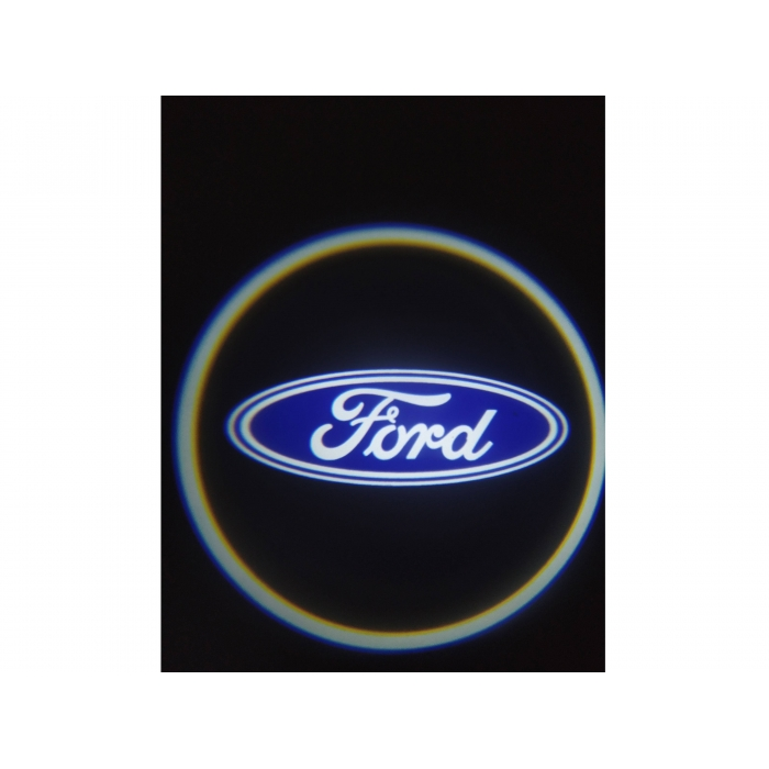 Wireless Car Welcome Logo HD Shadow Projector Ghost Lights Kit For FORD All Cars Set Of 2