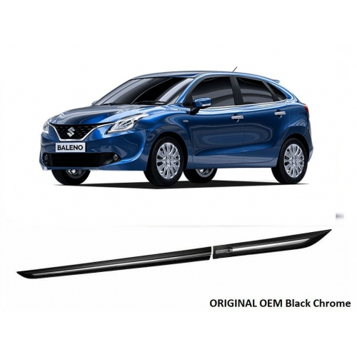 Maruti Suzuki New Baleno Door Side Beading (Black & Chrome)