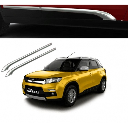 Maruti New Vitara Brezza 2020 Door Chrome Side Beading Beading Trims (Upper side)