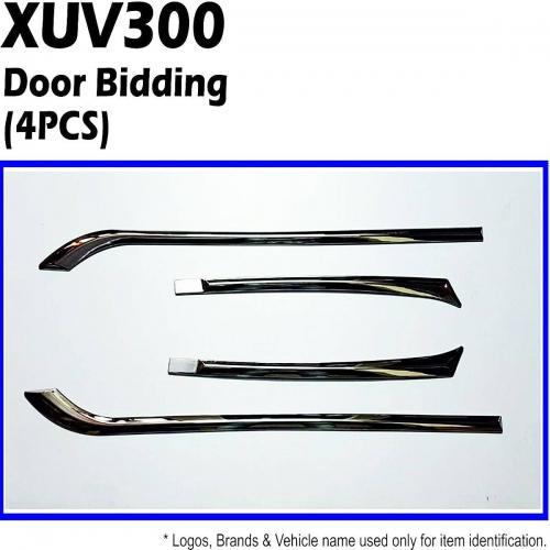 Mahnidra Xuv 300 Chrome Door Side Beading  Set Of 4- Imported