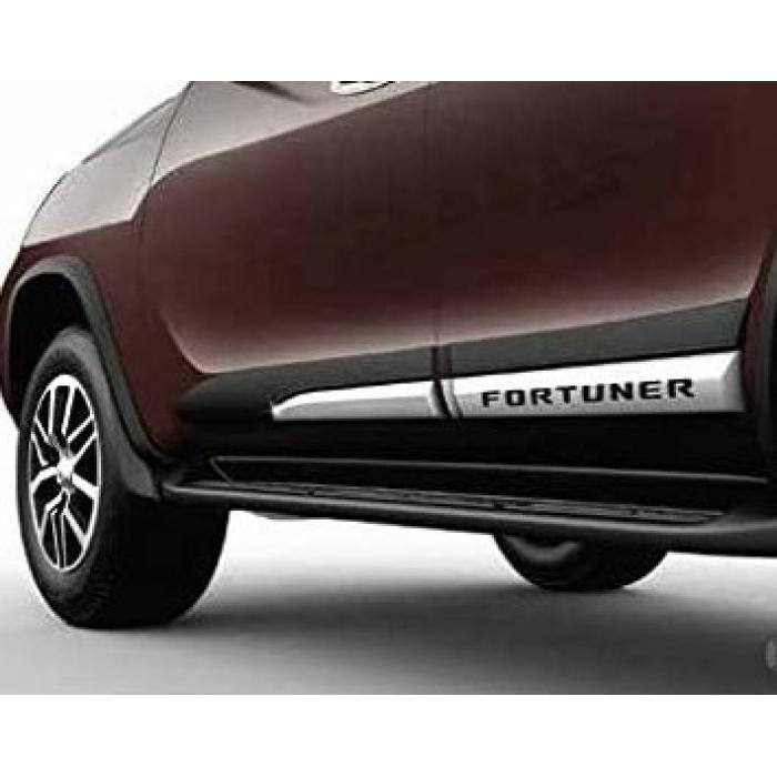 Toyota New Fortuner Facelift 2021 Door Side Cladding Set (Black & Silver)