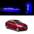 Ford Figo Aspire Door Foot LED Mirror Finish Black Glossy Scuff Sill Plate Guards (Set of 4Pcs.)