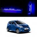 Hyundai Eon Door Foot LED Mirror Finish Black Glossy Scuff Sill Plate Guards (Set of 4Pcs.)