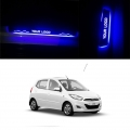 Hyundai i10 Door Foot LED Mirror Finish Black Glossy Scuff Sill Plate Guards (Set of 4Pcs.)
