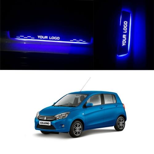Car Door LED Light Scuff Sill Plate Guards for Maruti Suzuki Celerio (Set of 4Pcs.)