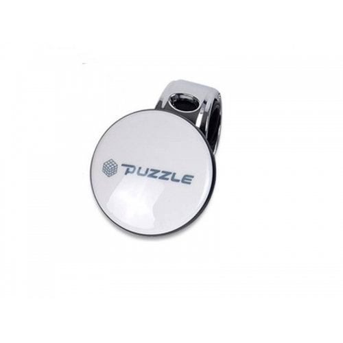 Puzzle White Car Power Steering Handle Spinner Knob