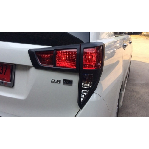 Tail Light Outer Trims Matte Black Glossy For Toyota Innova Crysta
