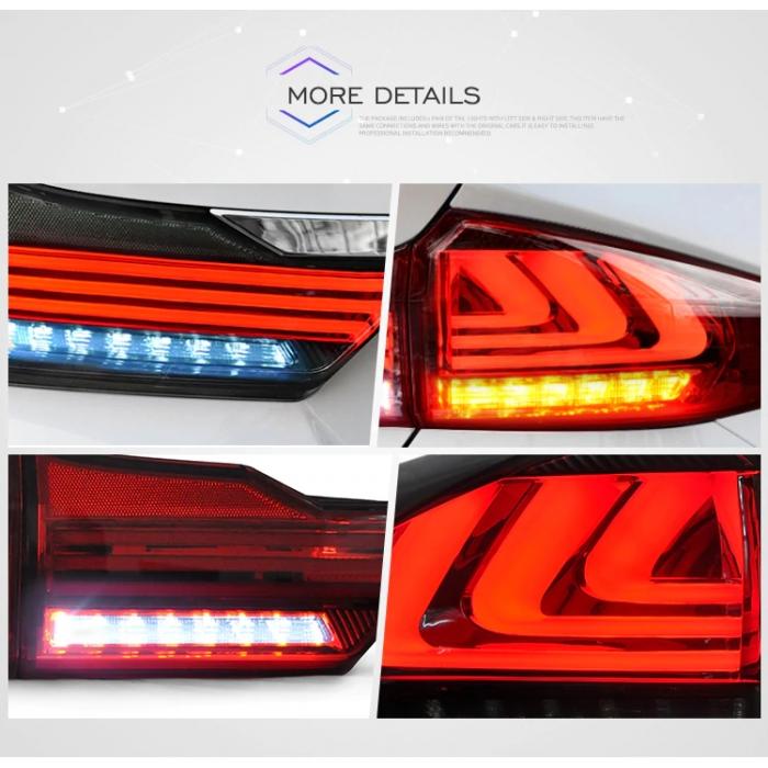 Honda City 2014-2019 Custom Modified BMW Style Tail Light With Matrix Turn Signal