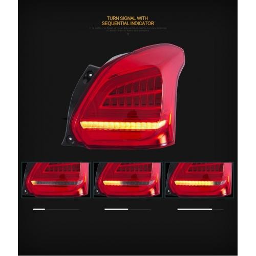 Carhatke Modified LED Tail Light Matrix Indicator Edition for Maruti New Swift 2018