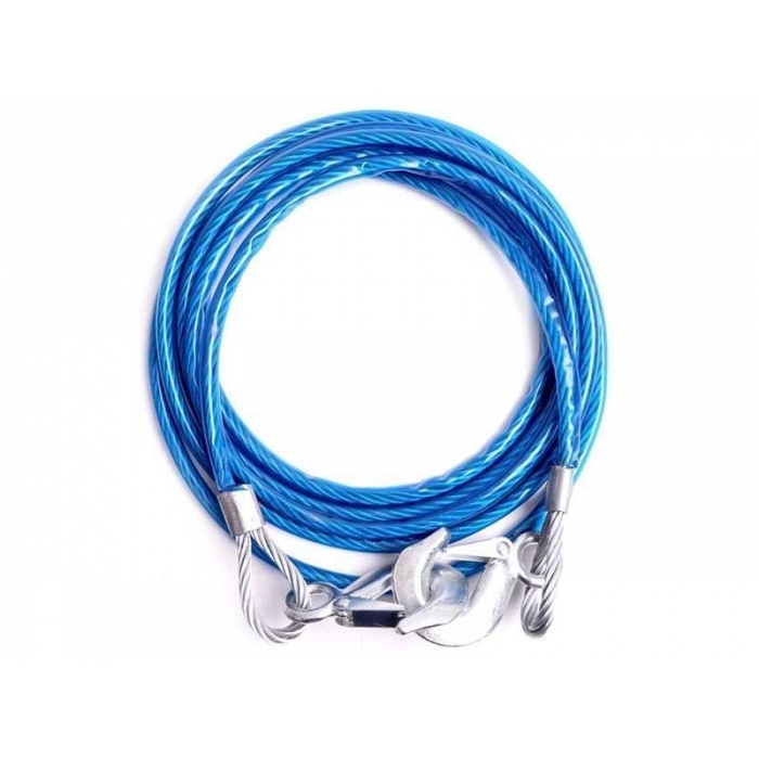 Carhatke Heavy Duty 3 Ton Capacity Metal Towing Rope Cable For All Cars