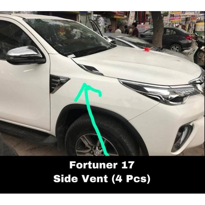 Chrome Bonnet Ornament For Toyota New Fortune Facelift 2021 Set Of 2