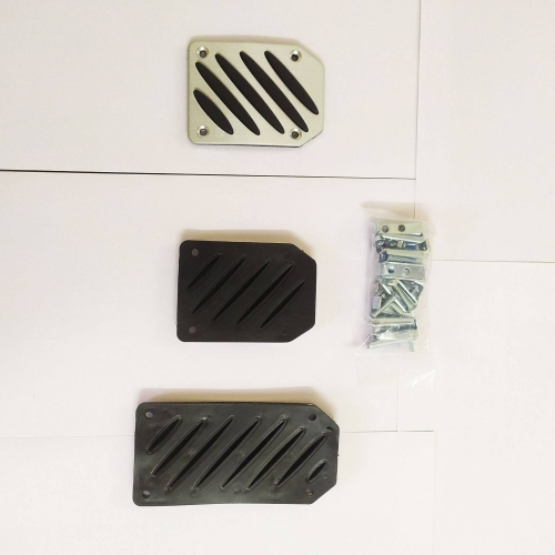 Silver Color Non-Slip Racing Manual Car Pedals Pad Cover (Set of 3Pcs)