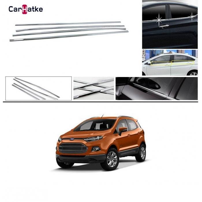 Ford Ecosport Lower Window Chrome Garnish Trims (Set Of 6Pcs.)
