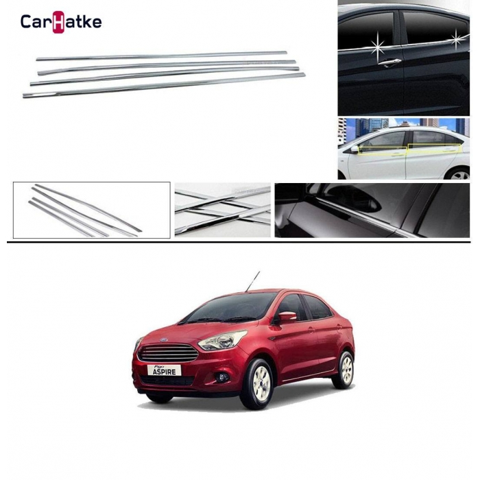 Ford Figo Aspire Lower Window Chrome Garnish Trims (Set Of 6Pcs.)