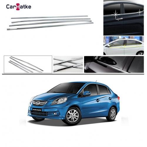 Honda Amaze Lower Window Chrome Garnish Trims (Set Of 4Pcs.)