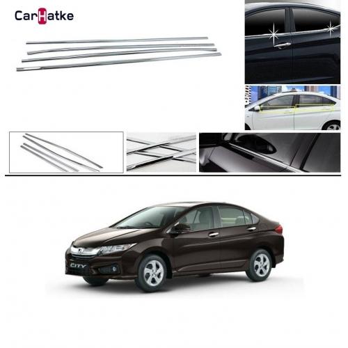 Honda City 2014-2020 Lower Window Chrome Garnish Trims (Set Of 4Pcs.)