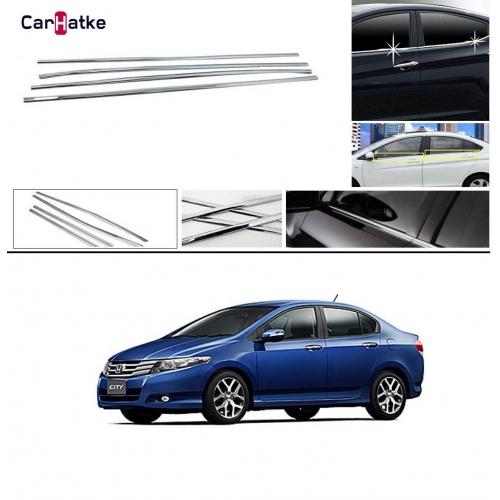 Honda City Ivteh 2009-2013 Lower Window Chrome Garnish Trims (Set Of 4Pcs.)