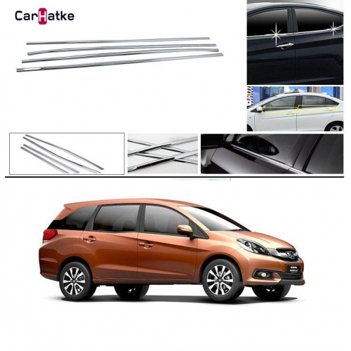 Honda Mobilio Lower Window Chrome Garnish Trims (Set Of 6Pcs.)