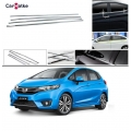Honda New Jazz Lower Window Chrome Garnish Trims (Set Of 6Pcs.)