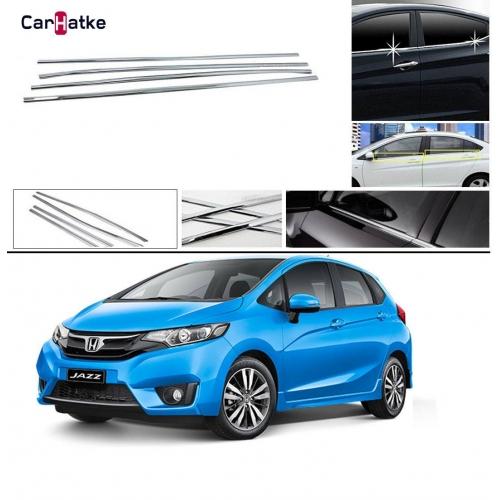 Honda New Jazz Lower Window Chrome Garnish Trims (Set Of 6Pcs.)