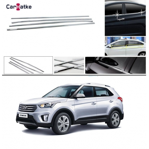 Hyundai Creta 2015-2019 Lower Window Chrome Garnish Trims (Set Of 6Pcs.)