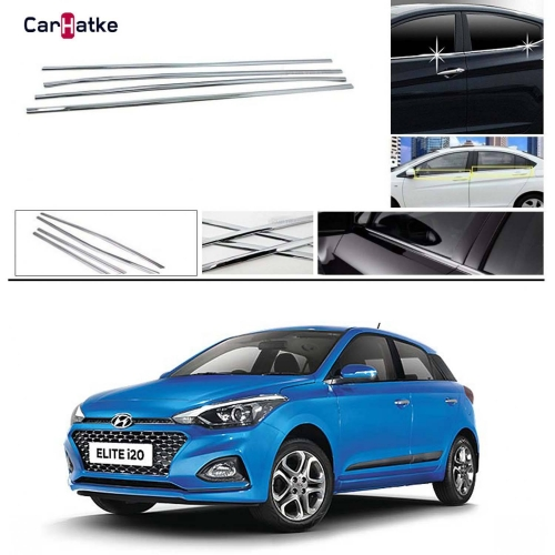 Hyundai i20 Elite New 2018 Lower Window Chrome Garnish Trims (Set of 4Pcs.)