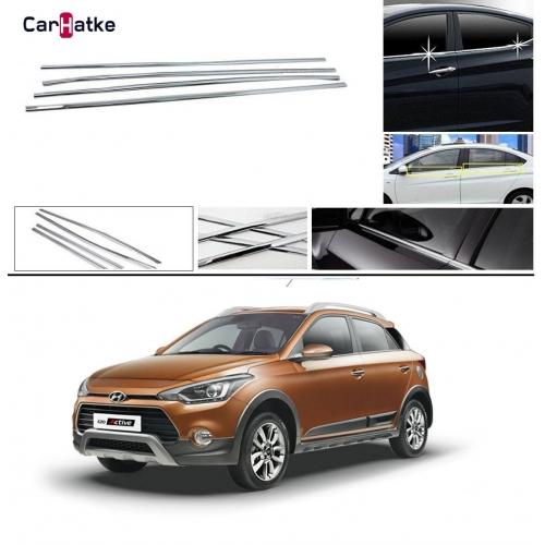 Hyundai I20 Active Lower Window Chrome Garnish Trims (Set Of 4Pcs.)
