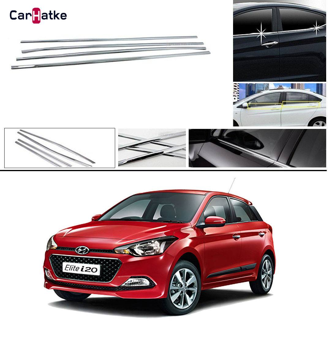Hyundai I20 Elite Lower Window Chrome Garnish Trims Set Of 4 Carhatke Com