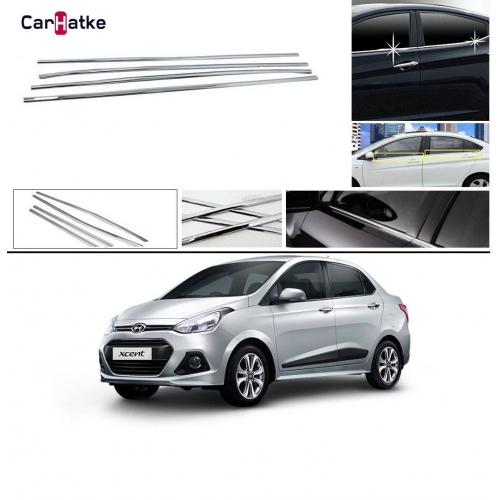 Hyundai Xcent Lower Window Chrome Garnish Trims (Set Of 4Pcs.)