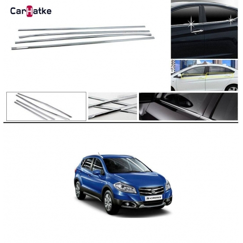 Maruti S Cross Lower Window Chrome Garnish Trims (Set Of 4Pcs.)