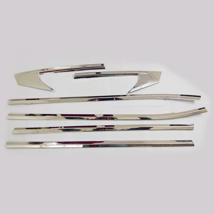 Kia Seltos Lower Window Chrome Garnish Trims ABS Material (Set Of 6Pcs.)
