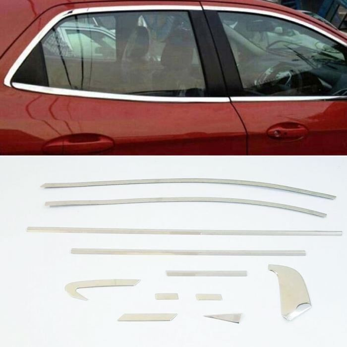 Honda City 2009 Full Window Chrome Garnish Trims (Set Of 22Pcs.)
