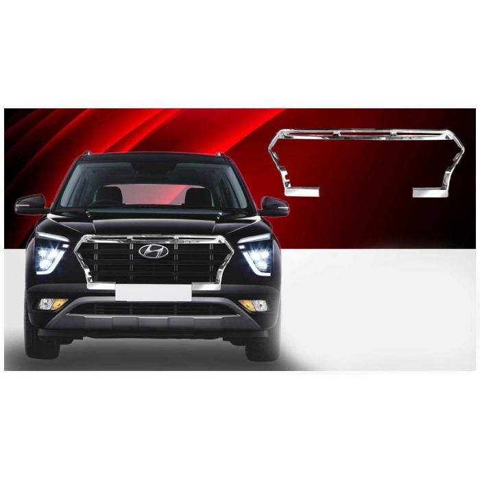 Hyundai New Creta 2020 Chrome Plated Front Grill Ring