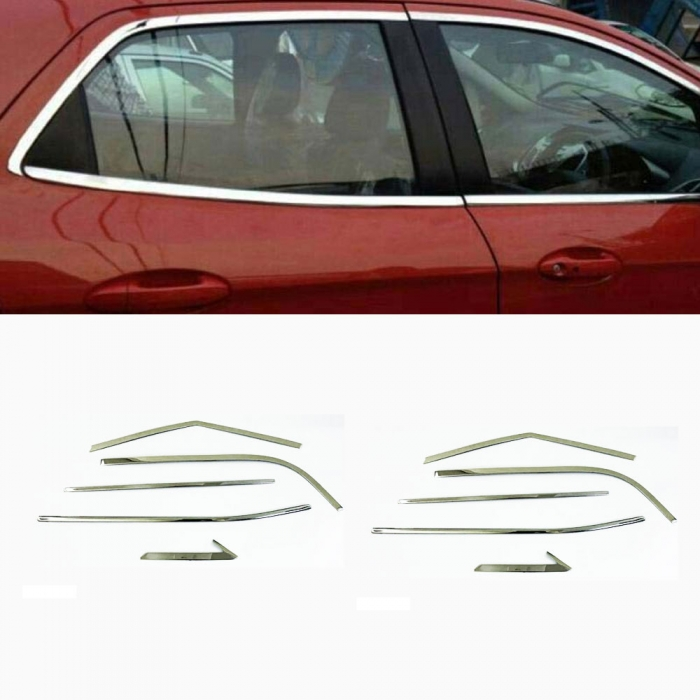 Hyundai Creta 2020 Full Window Chrome Garnish Trims (Set Of 10Pcs.)